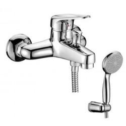 Смеситель для ванны с коротким изливом, керамич. картридж 40 мм Sedal, с аксессуарами