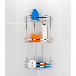 Полка для ванной комнаты и кухни, 3-х ярусная, угловая