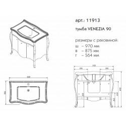 тумба VENEZIA 90