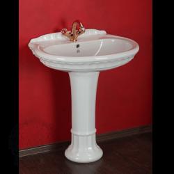 GIANETA Раковина тюльпана 70 см, керамика с колонной