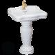 IMPERO Раковина с колонной 90 см, керамика