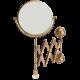 CRISTALIA Зеркало оптическое пантограф D18xH41xP60 см. (3Х) настенное, SWAROVSKI