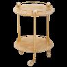 CRISTALIA Столик на колёсиках H57xD40 см, стекло/SWAROVSKI