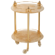 ELISABETTA Столик на колёсиках H57xD40 см, стекло