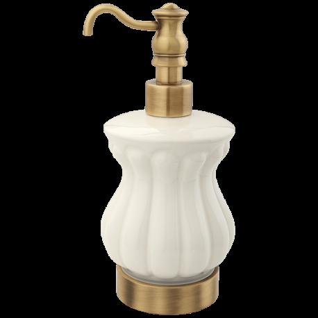 OLIVIA Дозатор жидкого мыла настольный, керамика