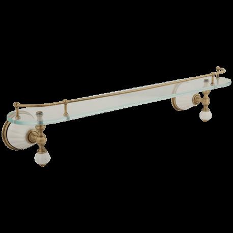 OLIVIA Полка c галереей L60 см, стекло/керамика