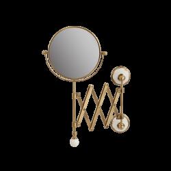 PROVANCE Зеркало оптическое пантограф D18xH40xP60 см. (3Х) настенное, керамика с декором