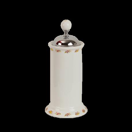 PROVANCE Контейнер для мусора H27xD12 см. настольный с крышкой, керамика с декором