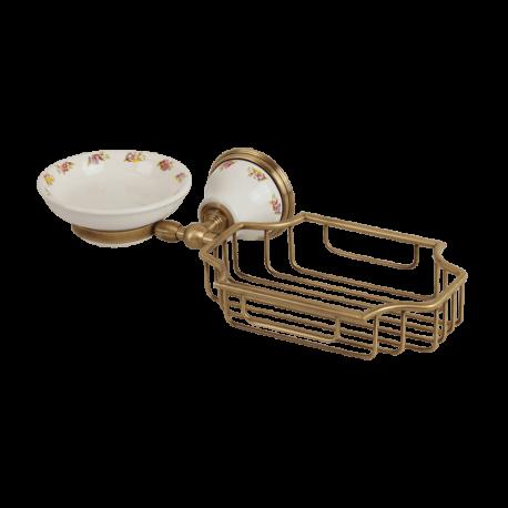 PROVANCE Мыльница с корзинкой настенная, керамика с декором