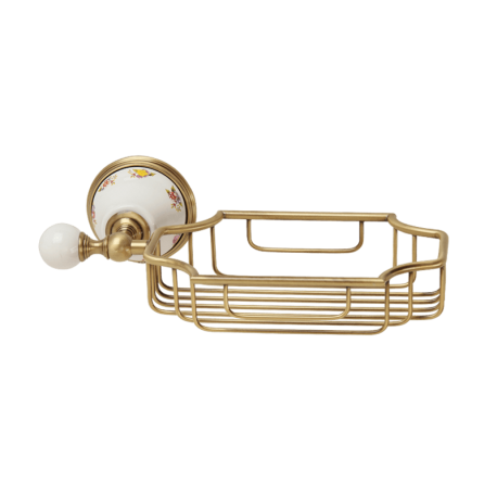 PROVANCE Решетка-корзинка настенная, керамика с декором