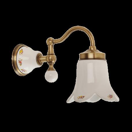 PROVANCE Светильник настенный, плафон керамика с декором