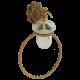 CLEOPATRA Дозатор жидкого мыла настенный с кольцом, стекло прозрачное с матовым декором