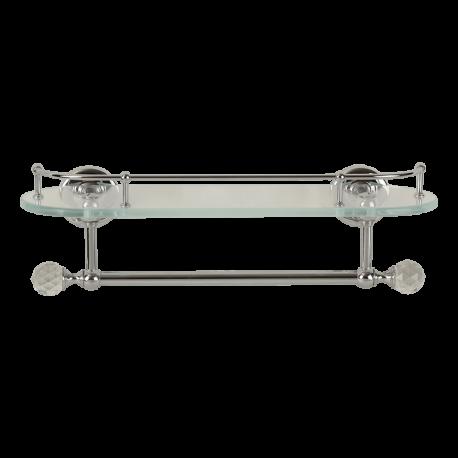 AMERIDA Полка c галереей L36 см, с полотенцедержателем, стекло/SWAROVSKI