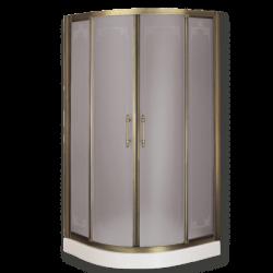 AURELIA Душ.кабина угл.R90 88-90xH185 см. двери раздвиж.с ручками, стекло прозрачное/декор