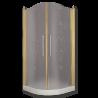 DIADEMA Душ.каб.угловая R90xH195 см. 2 расп.двери, стекло прозрачное