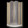 DIADEMA Душ.каб.угловая R90хH195 см. 2 расп.двери с неподв.эл-ми стекло матовое
