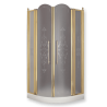 DIADEMA Душ.каб.угловая R90хH195 см. 2 расп.двери с неподв.эл-ми, стекло мат/дек