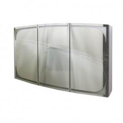 шкаф зеркальный LEGATO 120 3-створчатый, с подсветкой по периметру