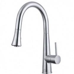Смеситель для кухни индукционный с выдвижным душем 6041S