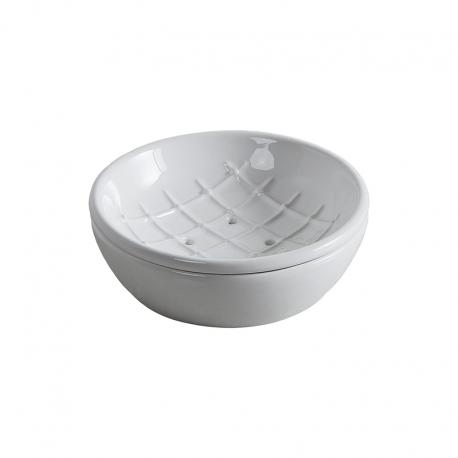 ROYAL мыльница керамическая настольная, d 130 mm, h 47 mm витринный образец без упаковки