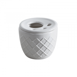 ROYAL стакан для зуб. щёток керамический настольный, d 120 mm, h 102 mm витринный образец без упаковки