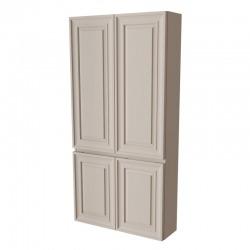 PONZA-A шкаф-пенал двойной, широкий Отделка: L813