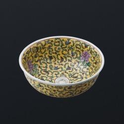 раковина керамическая 400x400x160 жёлтая