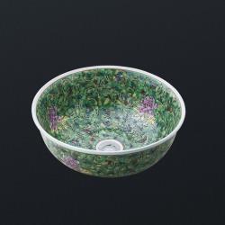 раковина керамическая 400x400x160 зеленая