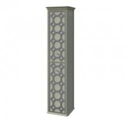 шкаф-пенал CAPRICE правый Отделка: В059+серебро