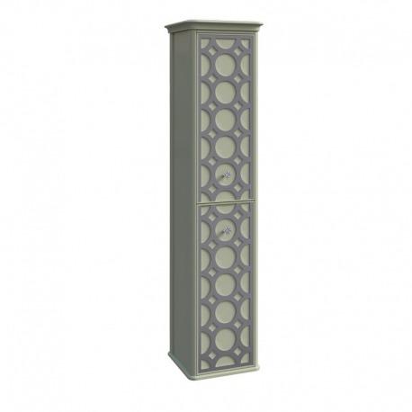 шкаф-пенал CAPRICE левый Отделка: В059+серебро