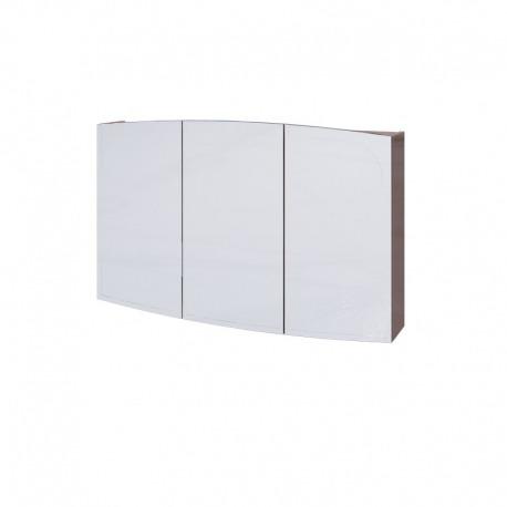 шкаф зеркальный LEGATO 120 3-створчатый, с подсветкой по периметру Отделка: ТР019 КАПУЧЧИНО