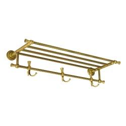 FORTUNA Полка-держатель д/полотенец с 3-мя двойными крючками L65 см.