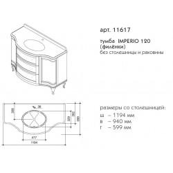 тумба IMPERIO 120 (филёнки)