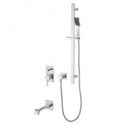 комплект для ванны DIAMANTE – инсталляционный смеситель, излив, штанга с ручным душем