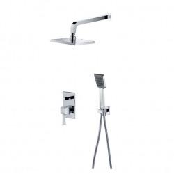 комплект для душа DIAMANTE – инсталляционный смеситель, тропич.душ, ручной душ