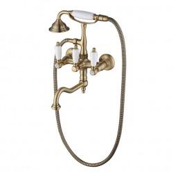 ADRIA-Classic смеситель для ванной с подставкой, лейкой и шлангом бронза
