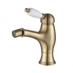 ADRIA–Uno смеситель для биде, с донным клапаном и подводкой бронза