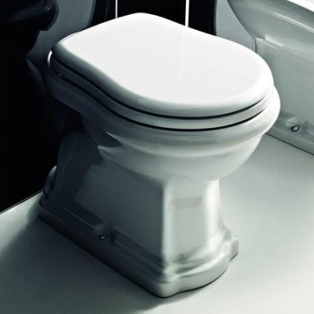 KERASAN Retro Унитаз напольный приставной слив в пол, цвет белый