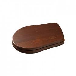 KERASAN Retro Сиденье для унитаза, цвет дерево/бронза (микролифт)