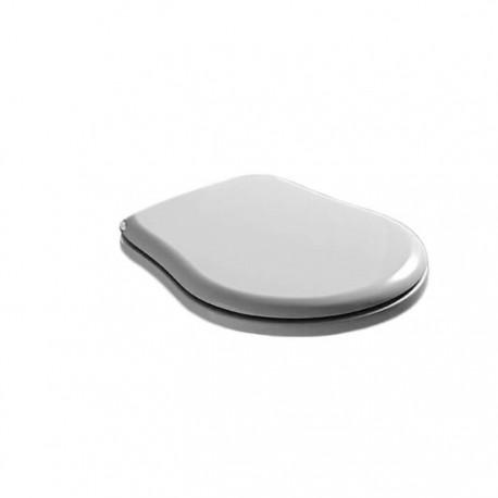KERASAN Retro Сиденье для унитаза цвет белый/хром (микролифт)