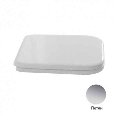Kerasan Waldorf Сиденье для унитаза, цвет белый/хром, микролифт