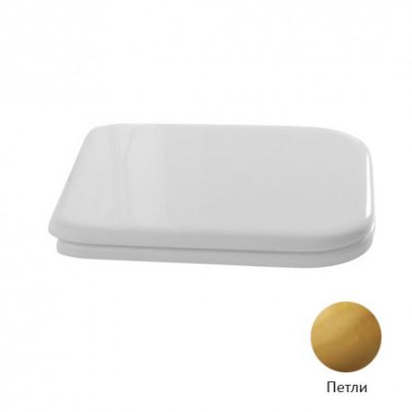 Kerasan Waldorf Сиденье для унитаза, цвет белый/золото, микролифт