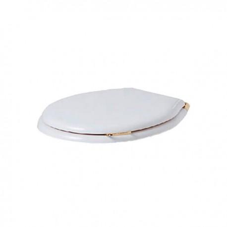 SIMAS Lante Сиденье для унитаза, с ручкой, цвет белый/золото, микролифт