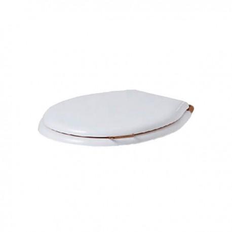 SIMAS Lante Сиденье для унитаза, с ручкой, цвет белый/бронза, микролифт