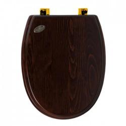 SIMAS Arcade Сиденье для унитаза, цвет дерево/золото