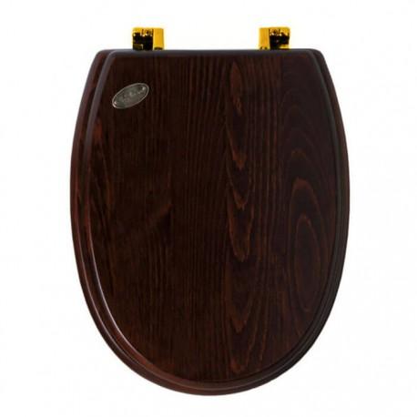 SIMAS Arcade Сиденье для унитаза, цвет дерево/золото, (микролифт)