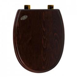SIMAS Arcade Сиденье для унитаза, цвет дерево/бронза, (микролифт)