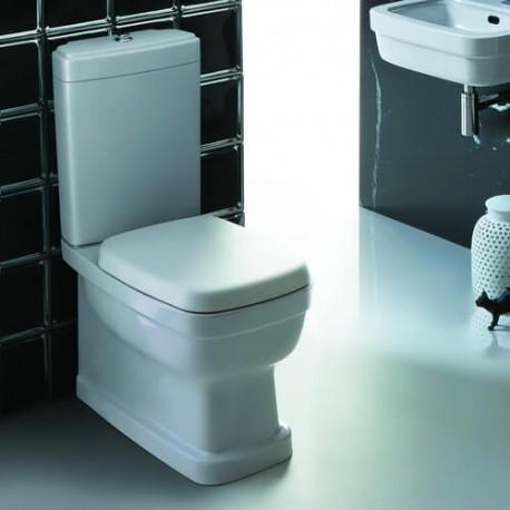 SIMAS Evolution Унитаз моноблок 64х37см, слив универсальный, цвет белый с бачком и белым сиденьем на выбор