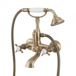 BRISTOL смеситель для ванной с подставкой, лейкой и шлангом