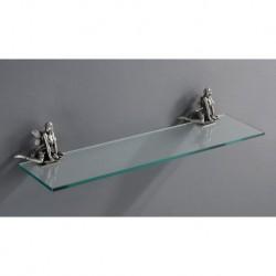 Полка стеклянная подвесная 60 см ART&MAX AM-B-0983